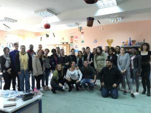 Les élèves grecs du lycée d'Amaliada et du lycée de Champs sur Yonne