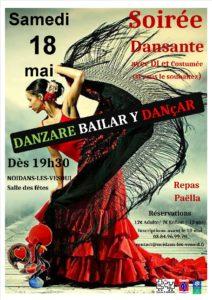 Soirée dansante à Noidans-lès-Vesoul le samedi 18 mai dès 19h30